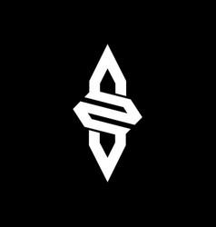 s letter logo design letter s design s logo vector image