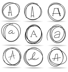 scribble circles or highlights vector image