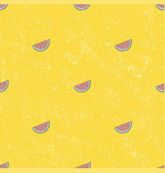 Seamless pattern water melon background vector