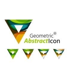 Set of abstract geometric company logo triangles vector image