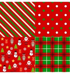 Set of christmas patterns vector