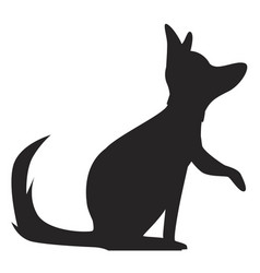 silhouette a dog vector image
