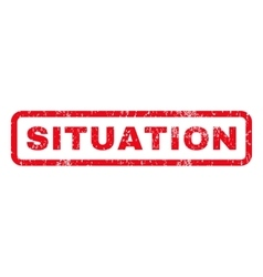 Situation Rubber Stamp vector