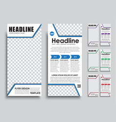 Template flyer size of mm vector