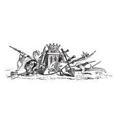 This design shows armor vintage engraving vector