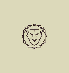 Tiger line logo simple ans strong vector