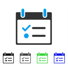 Todo list calendar day flat icon vector