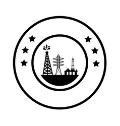 Tower industry isolated icon vector