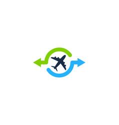 Travel share logo icon design vector