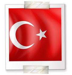 turkey flag on paper vector image