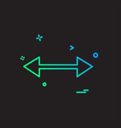 two way icon design vector image
