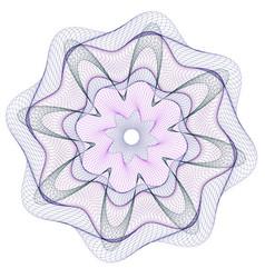 watermark guilloche rosetta vector image
