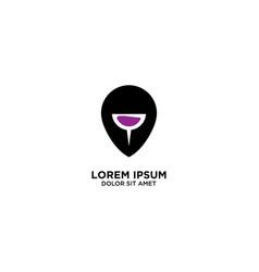 Wine maps design geo location sign logo map vector