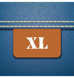 XL size clothing label - vector image