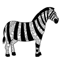 Zebra mandala icon vector