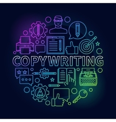 Copywriting round bright vector image