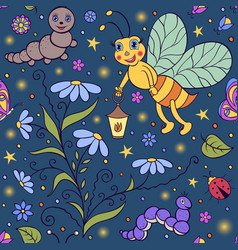 cute firefly vector image