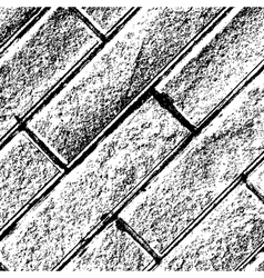 Distressed Brick Background Diagonal vector image vector image