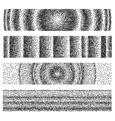 set halftone geometric gradient backgrounds vector image