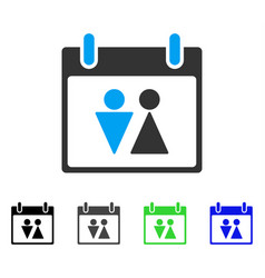 Toilet calendar day flat icon vector
