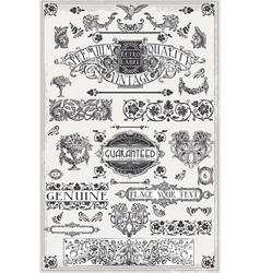 Vintage hand drawn graphic page banners vector