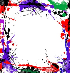 coloured grunge art vector image vector image