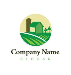 farm logo 3 vector image