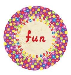 Funny round frame for kids with toys vector image vector image