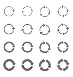 Rotation Arrows Set vector image