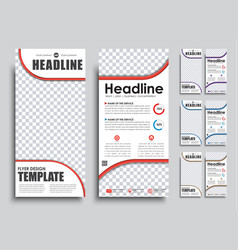 Templates banners with place for photo in 4 color vector