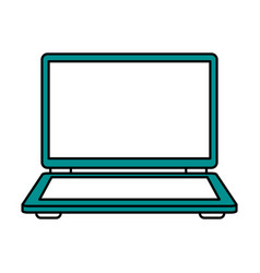color silhouette image of laptop computer vector image
