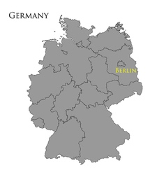Contour map of Germany vector image vector image