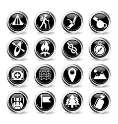 day of skouts icon set vector image vector image