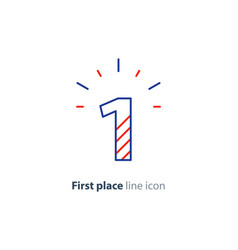 first step concept achievement level linear icon vector image