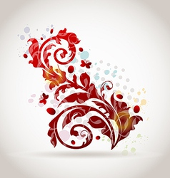Floral ornamental colorful design elements vector image vector image