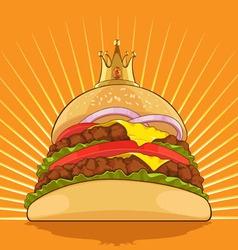 King Burger vector image vector image