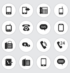 set of 16 editable phone icons includes symbols vector image vector image