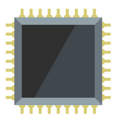 Computer microchip icon isolated vector
