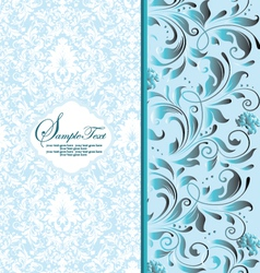 cute floral background with free space for your te vector image