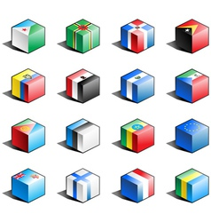 Flag icon set part 4 vector image vector image