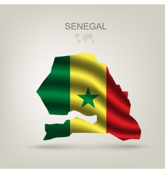 flag of Senegal as the country vector image vector image