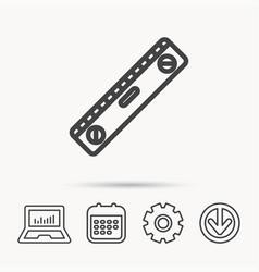 Level tool icon horizontal measurement sign vector