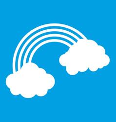 rainbow icon white vector image