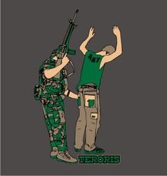 Terrorist vector image
