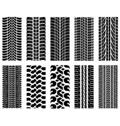 Tire tread patterns vector image vector image