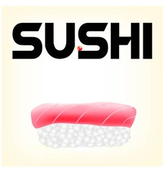 tuna sushi vector image vector image