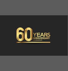 60 years anniversary celebration with elegant vector