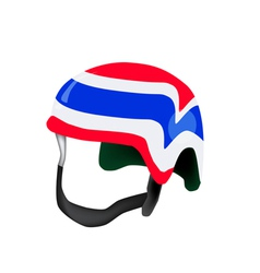 A Helmet of Thai Flag on White Background vector