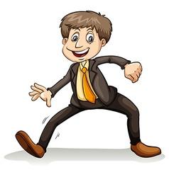 A man dancing vector image