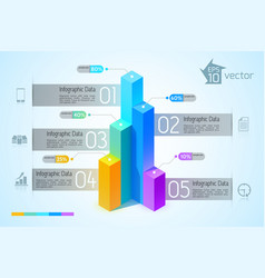 Abstract business graph infographic concept vector